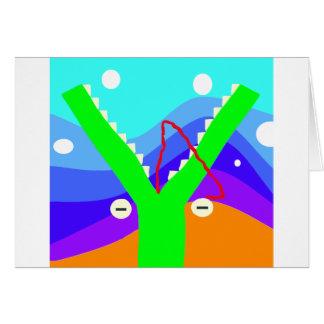 Crocodilian Fly Trap Card