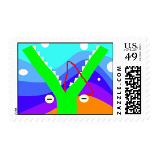 Crocodilian Fly Trap Postage Stamps