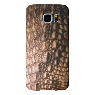 Crocodilian Photo-sampled Reptile Crocodile Skin Samsung Galaxy S6 Case