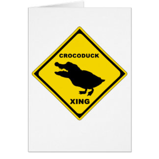 Crocoduck Crossing Card