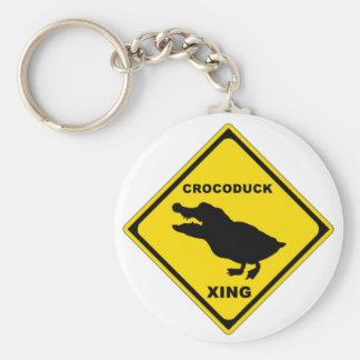 Crocoduck Crossing Keychains