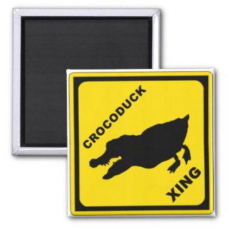 Crocoduck Crossing Refrigerator Magnet