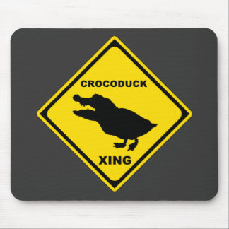 Crocoduck Crossing Mouse Pad