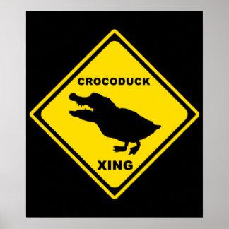 Crocoduck Crossing Poster