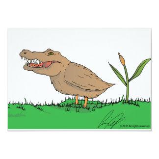 Crocoduck invitations in colour!