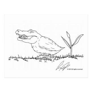 Crocoduck postcard