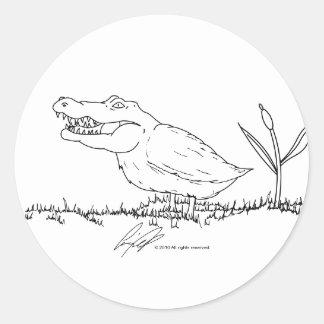 Crocoduck stickers