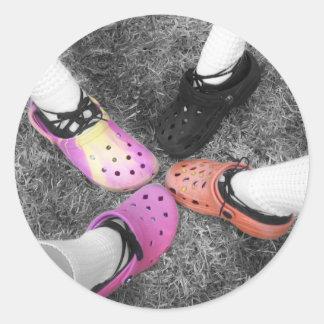 Crocs coloreado y pegatina suave de los zapatos
