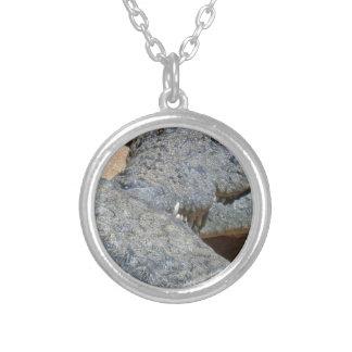 crocs round pendant necklace