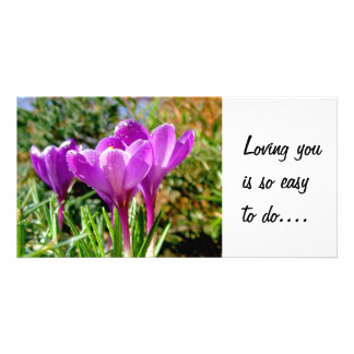 Crocus again, Loving you is so easy to do.... Card