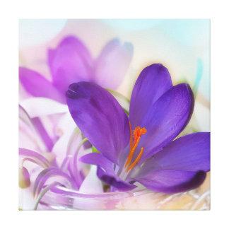 Crocus and Lilies Canvas Print