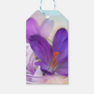 Crocus and Lily of the Valley Floral Arrangement . Gift Tags