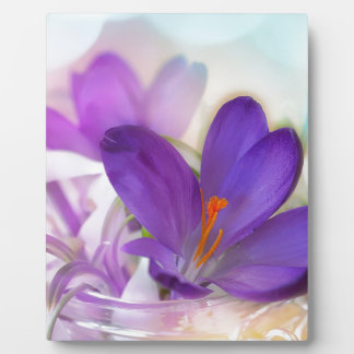 Crocus and Lily of the Valley Floral Arrangement . Plaque