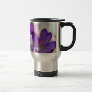 Crocus and Lily of the Valley Floral Arrangement . Travel Mug