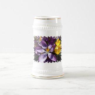 Crocus Colors Beer Stein Coffee Mug