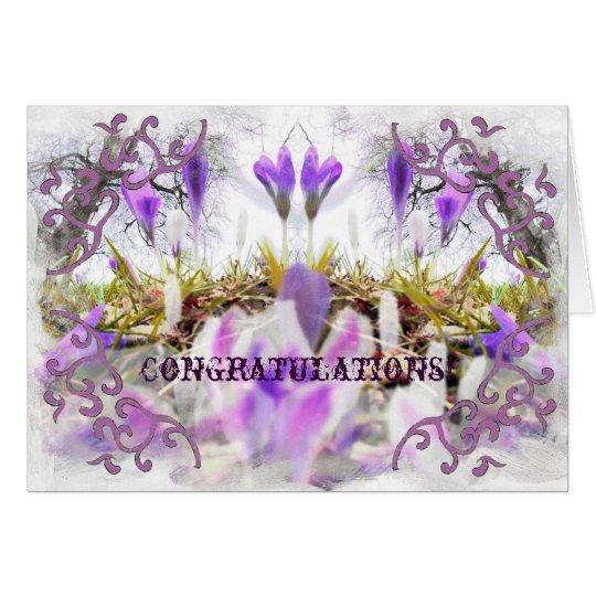 Crocus Congratulation Card