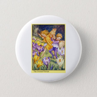 Crocus Fairy Button