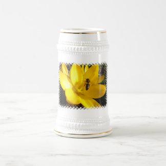 Crocus Flower Beer Stein Mug