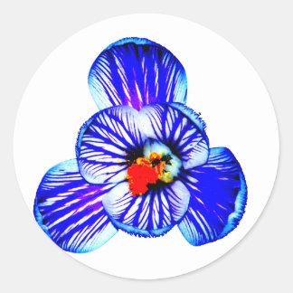Crocus Flower Classic Round Sticker