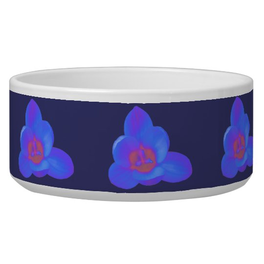Crocus Flower Hot and Cold Dog Bowl