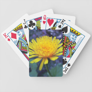 crocus flower photo in light bicycle playing cards