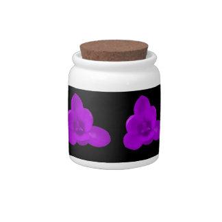Crocus Flower Purple Candy Jar