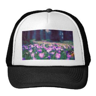 Crocus Flowers Trucker Hats