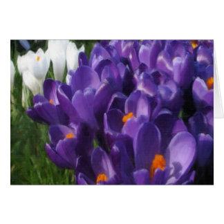 Crocus Flowers Painterly Card