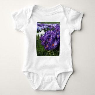 Crocus Flowers Painterly Tee Shirt