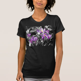 Crocus Ladies Black T-Shirt