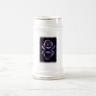 Crocus Patterns Beer Stein Mug