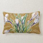 Crocuses, floral pattern, beautiful spring flowers lumbar pillow