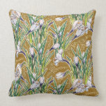Crocuses, floral pattern, beautiful spring flowers throw pillow