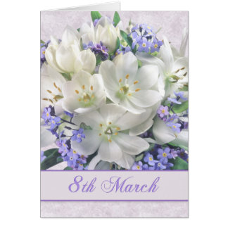 Crocuses, Forget-me-not International Women's day Card