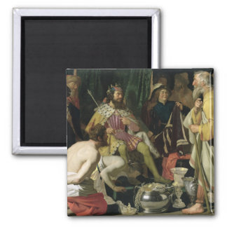 Croesus and Solon, 1624 2 Inch Square Magnet