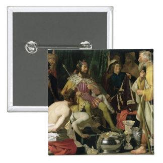 Croesus y Solon, 1624 Pin Cuadrado