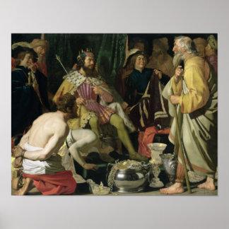 Croesus y Solon, 1624 Póster