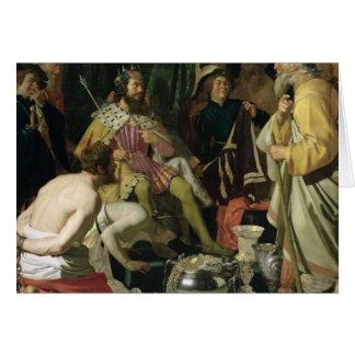 Croesus y Solon, 1624 Tarjeta De Felicitación