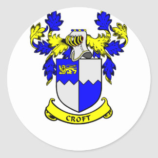 CROFT Coat of Arms Stickers