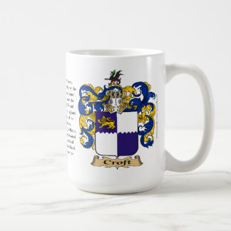 Croft, the Origin, the Meaning and the Crest Coffee Mug
