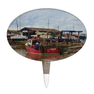 Crofter del barco de pesca figura para tarta