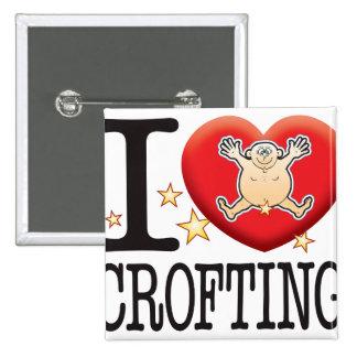 Crofting Love Man 2 Inch Square Button