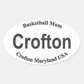 Crofton Basketball Mom Crofton Maryland Oval Oval Sticker