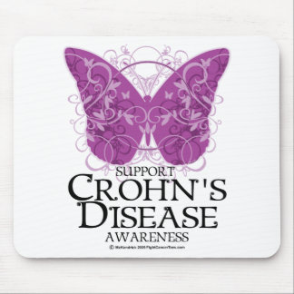Crohn s Disease Butterfly Mouse Pads