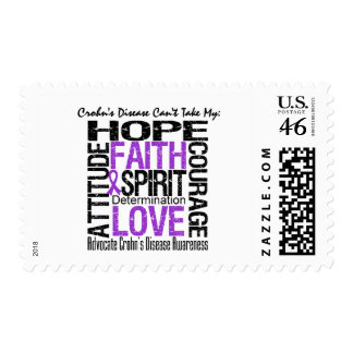 Crohn s Disease Can t Take My Hope Collage Postage Stamp