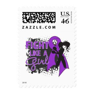 Crohn s Disease Fight Like A Girl Grunge Stamps