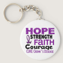 Crohn's Disease HOPE 3 Keychain