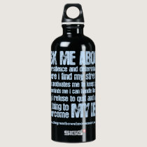Crohns and Colitis Awareness Aluminum Water Bottle