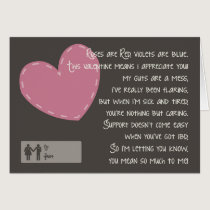 Crohn's and Colitis Valentine - Caregivers Card