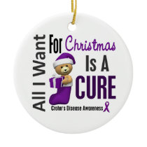 Crohns Disease All I Want For Christmas Ornaments